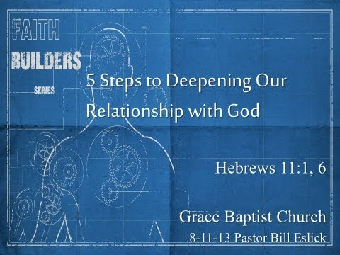 Five Steps to Deepening our Relationship with God 8-11-13