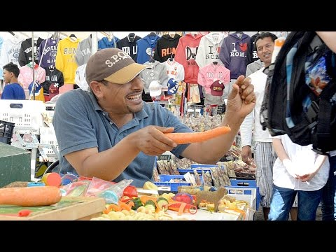 Campo De Fiori Food Market Rome Italy an Entertaining Vendor