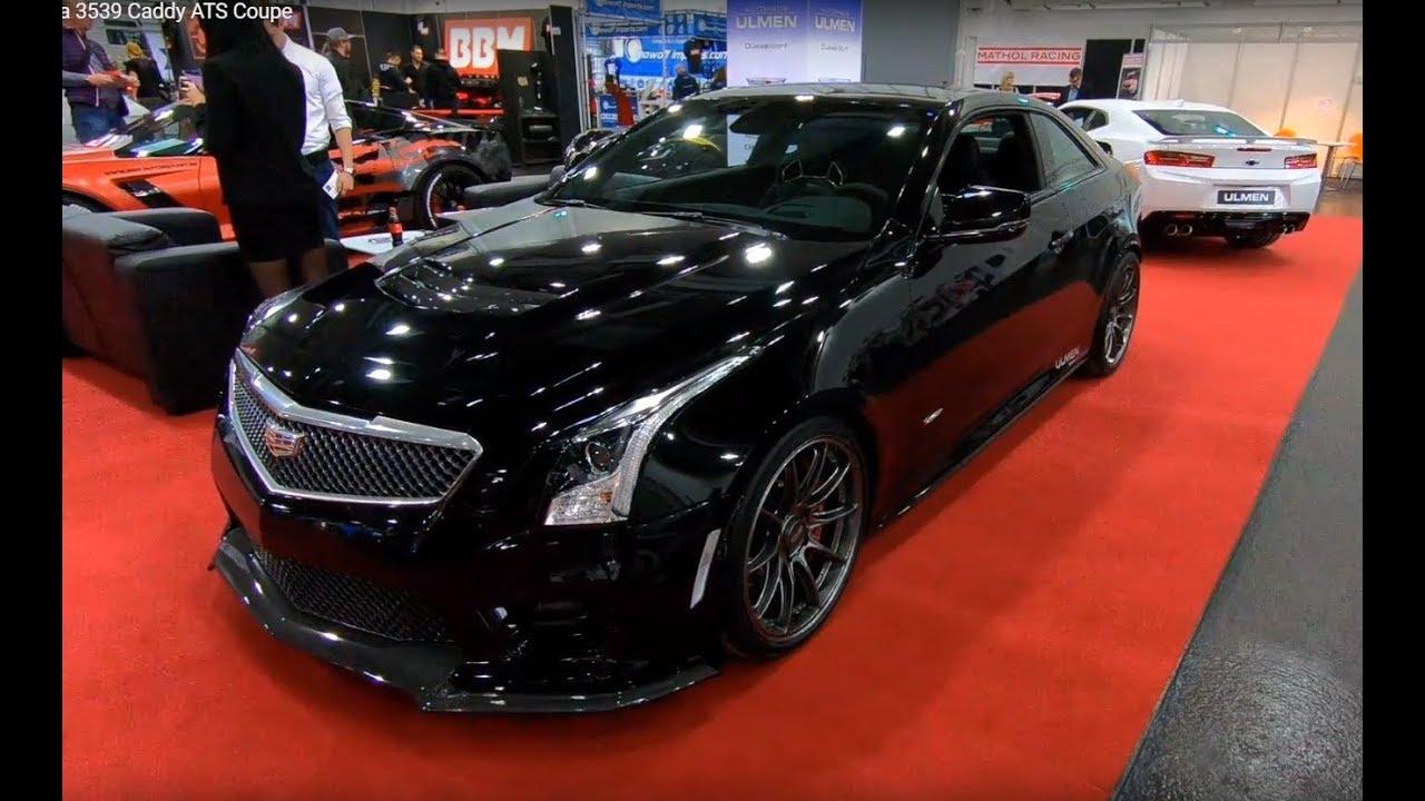 Cadillac Ats V Coupe Oz Racing Wheels Black Colour Walkaround