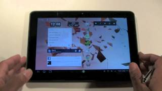 This is a video tutorial on how to change the language on an Android tablet