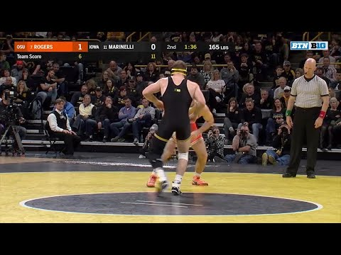 Big Ten Wrestling: 165 LBs - Oklahoma State's Chandler Rogers vs. Iowa's Alex Marinelli