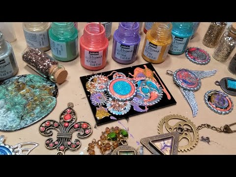 Mixed Media Jewelry Workshop with Pebeo Fantasy Special Effe