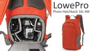 lowepro photo hatchback 16l aw photography backpack is great for traveling light
