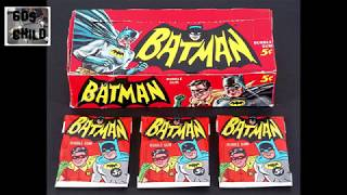 1960s Batman Bubble gum cards. Black Bat, 1st set