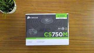 corsair CS750M Power Supply 80 Plus Gold  Unboxing & Quick Look