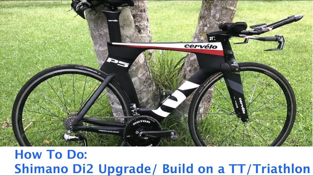 84edf8c797f How to do Shimano Di2 Time Trial TT Triathlon Upgrade Build - YouTube
