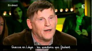 Michel Collon: bon arabe/mauvais arabe, médiamensonges, Libye (Ce soir ou jamais - 21 mars 2011)
