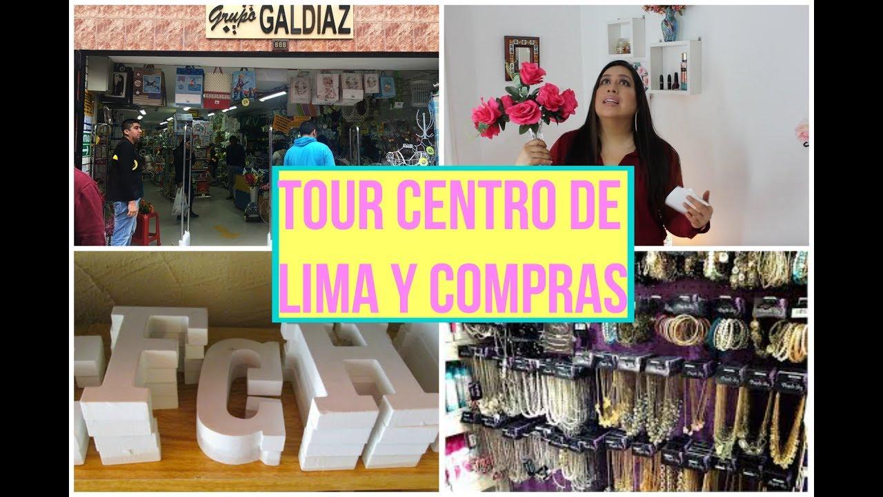 TOUR CENTRO DE LIMA / COMPRAS DECORACION, JOYAS Y MAS. - YouTube