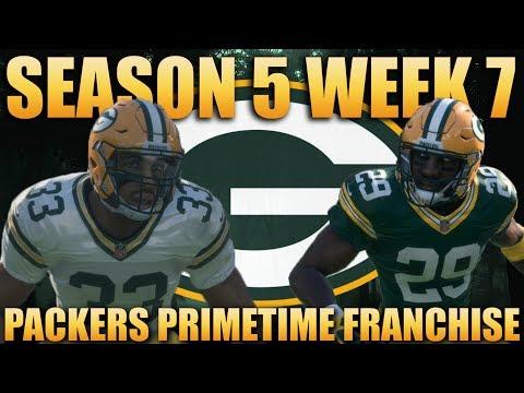 Rival Game vs the Detroit Lions! Madden 18 Packers Franchise | Primetime 2.0 Season 5 Week 7