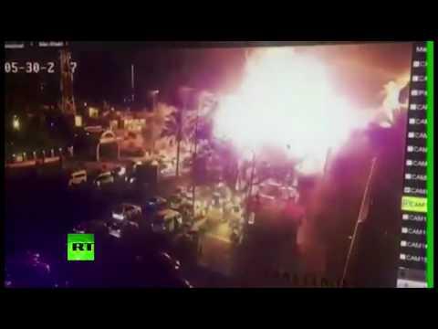 CCTV cam: Moment of blast in central Baghdad, at least 10 killed, dozens injured