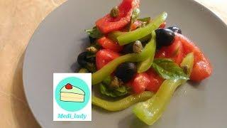 веганский салат с каперсами и маслинами