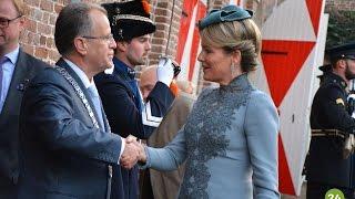Belgisch Koningspaar bezoekt Kasteel Heeze