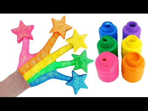 Thumbnail: Learn Colors for Children Body Paint with Play Doh Stars & Finger Family Nursery Rhymes