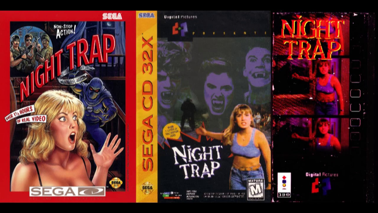 Night Trap 'THEME SONG' Montage (SEGA CD, 32X-CD, 3DO)