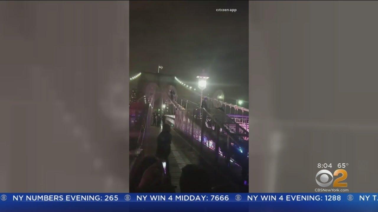 Suspect Jumps Off Brooklyn Bridge