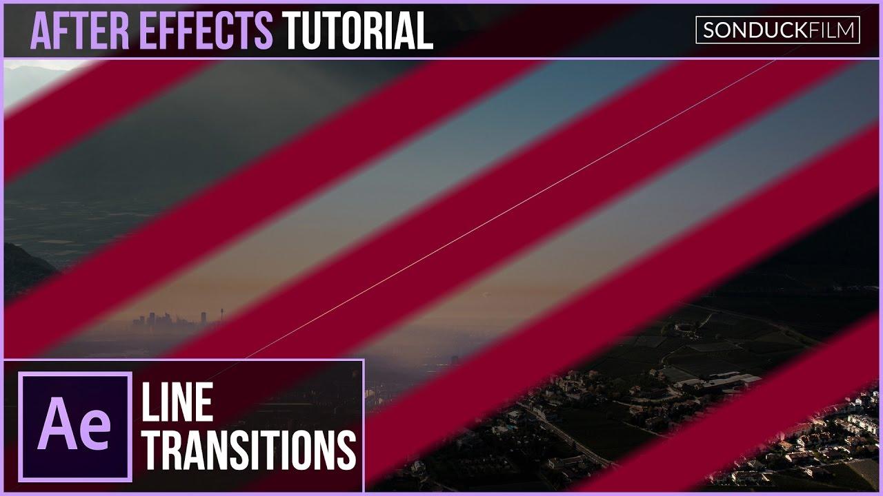 After Effects Tutorial: Line Swipe Transitions | SonduckFilm