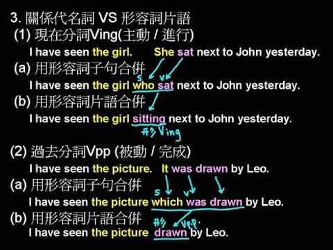 薛寶英語 上 9th L9 形容詞子句2 - YouTube