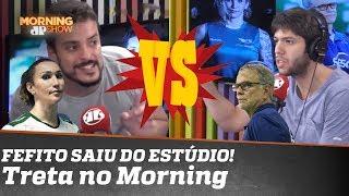 Fefito até saiu do estúdio: pega fogo discussão sobre a jogadora de vôlei trans Tifanny Abreu