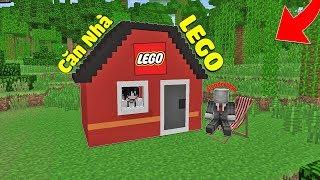 ĐI LÀM KIẾM TIỀN XÂY CĂN NHÀ LEGO TẶNG CHO BẠN THÂN TRONG MCPE | Thử Thách SlenderMan