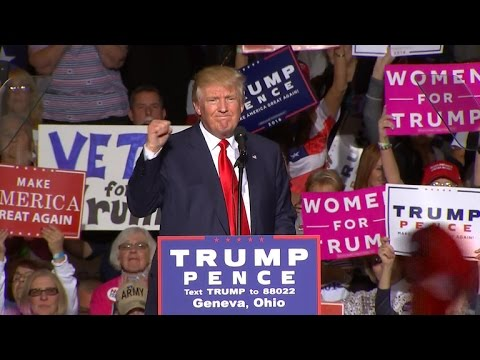 Full Video: Trump addresses supporters after Pence's plane skids off runway