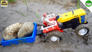 HMT Tractor With Heavy load rocks trolley   Bommu Kutty