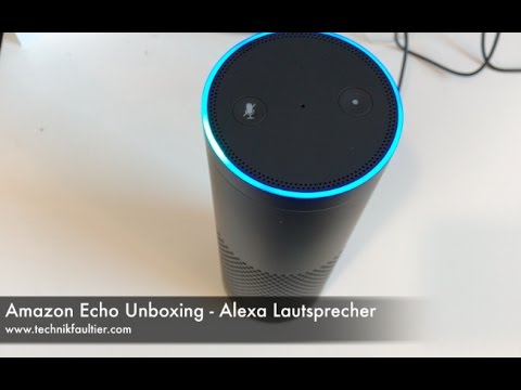 amazon echo unboxing alexa lautsprecher youtube. Black Bedroom Furniture Sets. Home Design Ideas