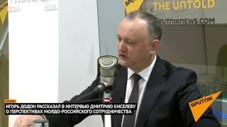 Интервью Президента Молдовы Игоря Додона Дмитрию Киселеву