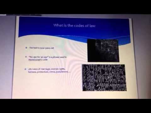 Hammurabi code of law!