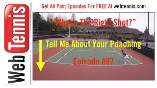 Tennis Doubles Strategy - Whats The Right Shot? #87 - The FAKE Poach