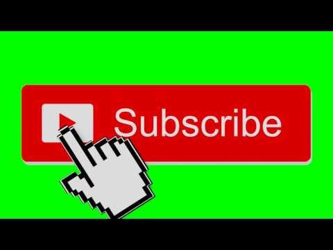 Subscribe button click green screen