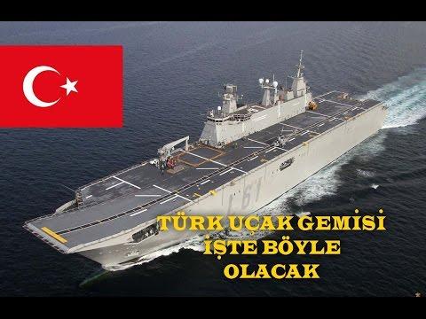 Türk uçak gemisinin bitmiş hali
