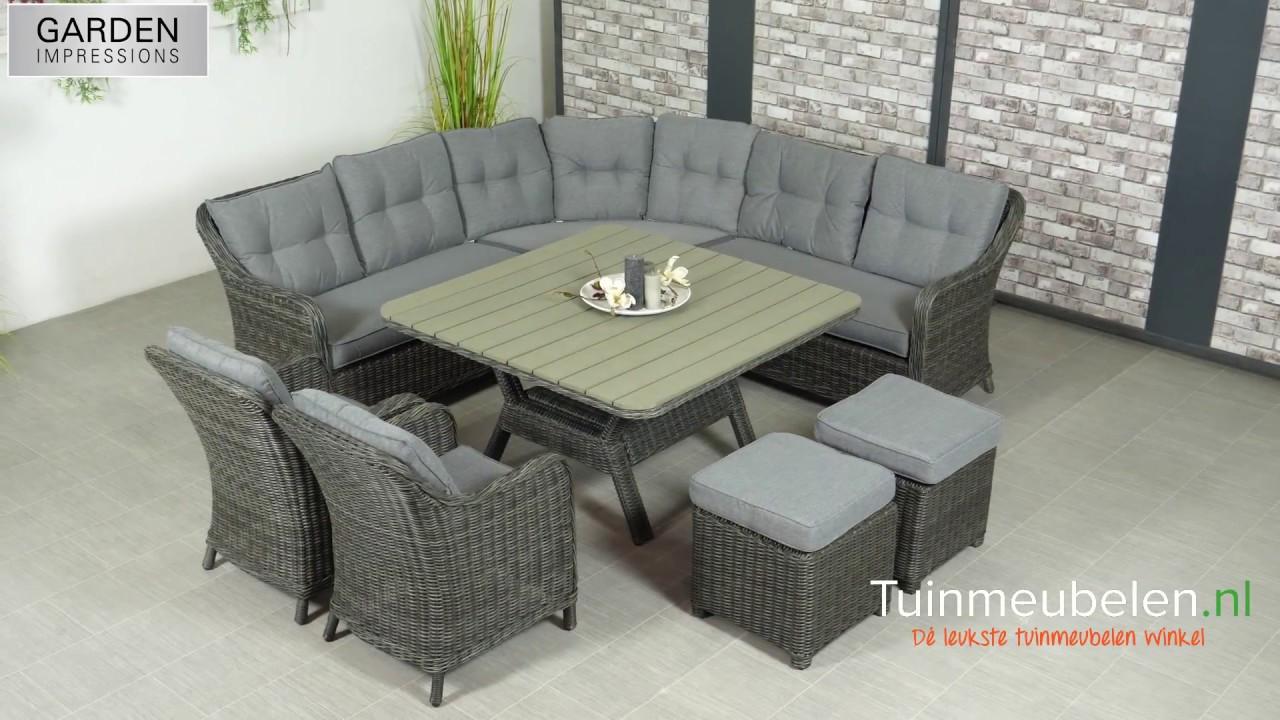 Garden impressions milwaukee earl grey lounge dining set youtube
