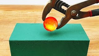 1,000 Degree Ball vs Sponge!