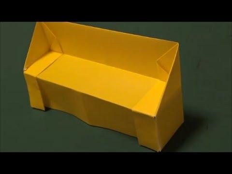 折り方 ますの折り方 : How to Make Origami Sofa