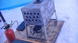 Делаю теплообменник для палатки и тестирую китайскую горелку BRS 8 на бензине