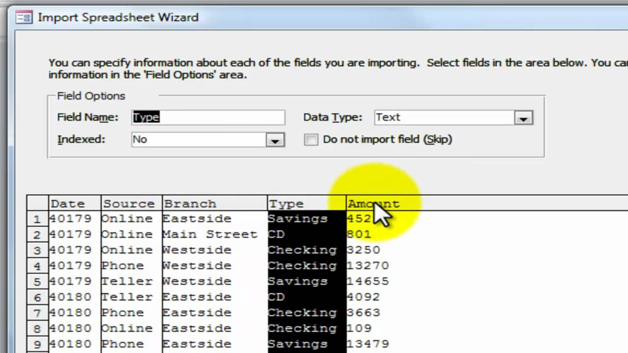 Import Excel Data Into MS Access - YouTube