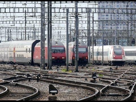 Trains At Zurich Main Station - harder