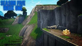 Follow the treasure map in risky reels Fortnit season 5