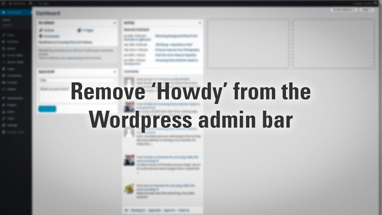 how to change header text in wordpress