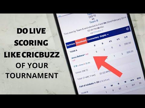Do Live Scoring Of Your Cricket Tournament On Chauka Cricket Scoring App