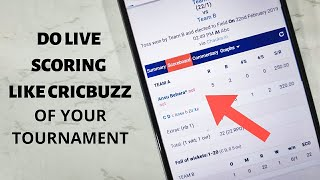 Do Live Scoring of Your Cricket Tournament on Chauka Cricket Scoring App
