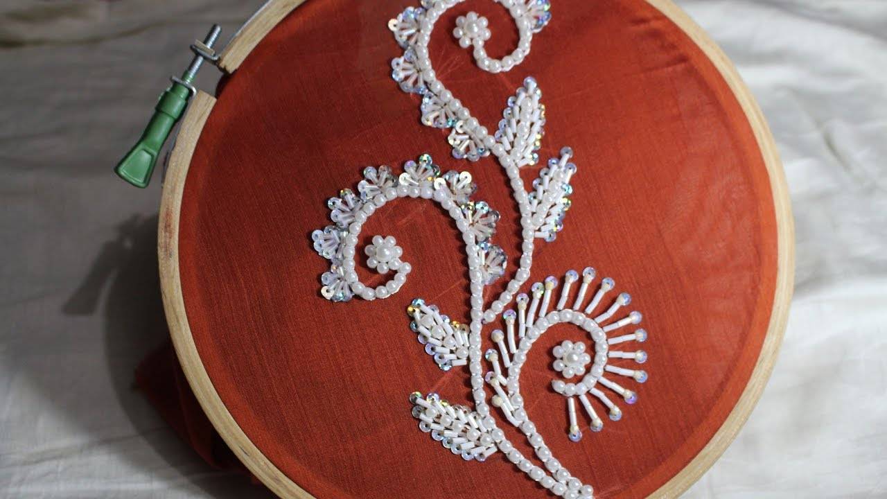 Hand Embroidery Designs Bead Embroidery Stitch And Flower 124