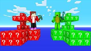 赤 vs 緑 - ラッキーブロックを本気でクリアしようとした結果!?【マインクラフト・まいくら】