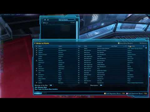 SWTOR: 26 Minutes Of The Glamorous Life Of A Guild Leader