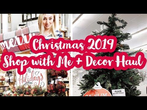 CHRISTMAS SHOP WITH ME 2019 | Christmas Decor Haul | Hobby Lobby + Kirkland's Shop with Me