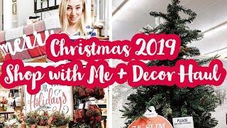 CHRISTMAS SHOP WITH ME 2019   Christmas Decor Haul   Hobby Lobby + Kirkland's Shop with Me