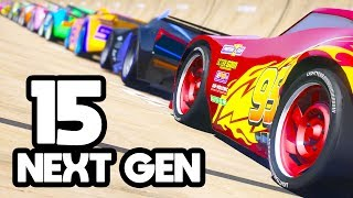 CARS 3 15 NEXT GEN MEGA JUMP PLANE CHALLENGE (Cars 3 Challenge)