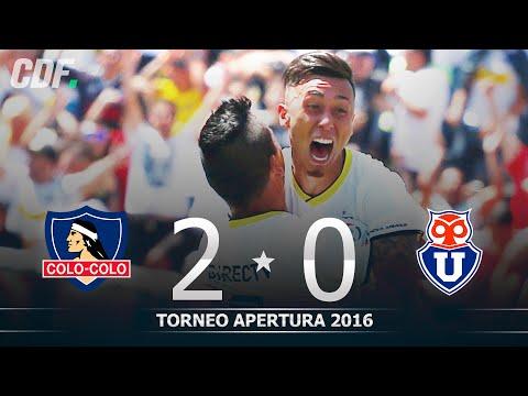 Colo Colo 2 - 0 Universidad de Chile | 8° Fecha | Torneo Apertura 2016 | CDF