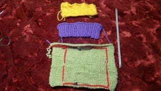 Как определить плотность своего вязания спицами