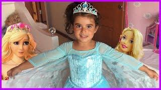 Karlar Kraliçesi Prenses Rüya ve Barbie Saklambaç Oynadılar l Eğlenceli Çocuk Videosu